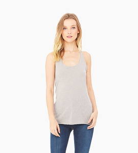 Bella   canvas ladies triblend racerback tank   athletic grey triblend