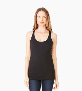 Bella   canvas ladies triblend racerback tank   black triblend