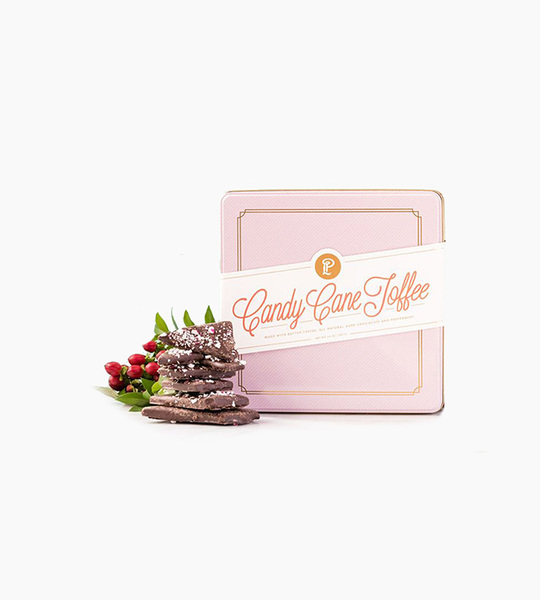 Lolli and pops holiday bark tins   candy cane toffee