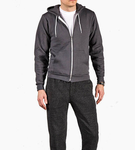 Alternative apparel rocky eco fleece zip hoodie   eco black