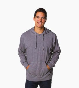 Independent trading company standard supply series men s jersey pullover hood   gunmetal heather