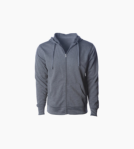 Independent trading company expedition series men s poly tech slim fit zip hood   gunmetal heather