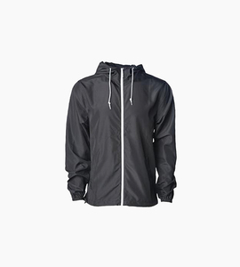 Independent trading company expedition series men s lightweight windbreaket jacket   black white
