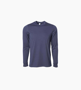 Independent trading company prm series men s special blend long sleeve t shirt   classic navy