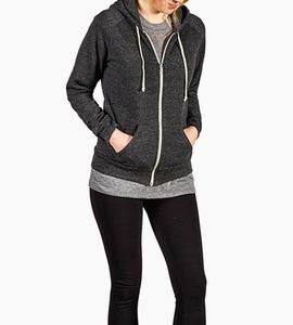 Alternative apparel adrian eco fleece zip hoodie   eco black