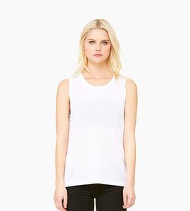 Bella   canvas women s flowy scoop muscle tank   white