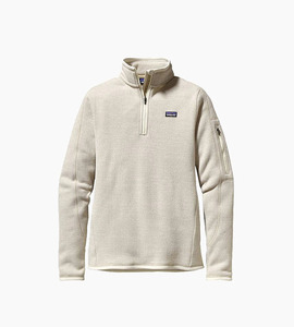 Patagonia women s better sweater  1 4 zip   raw linen