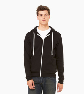 Bella   canvas unisex sponge fleece full zip hoodie   black