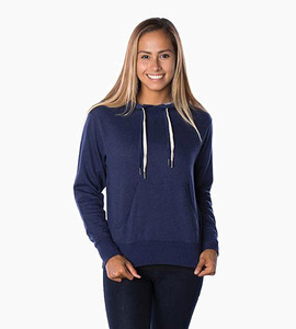 Independent trading company prm series unisex french terry pullover hood   navy heather