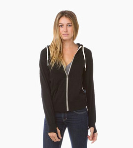 Independent trading company prm series unisex french terry zip hood   black
