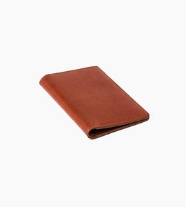 Linjer vertical wallet   cognac