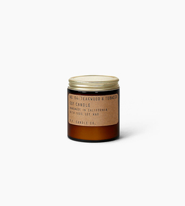 Pf candle co 3.5 oz soy candle   teakwood   tobacco