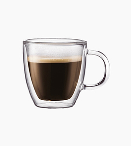 Bodum bistro 2 pcs mug  double wall 10 oz   glass