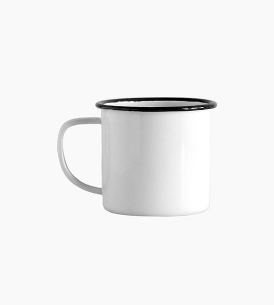 Crow canyon home jumbo mug 24oz   white black rim