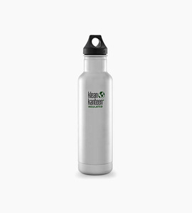Klean kanteen insulated classic 20oz w loop cap   stainless