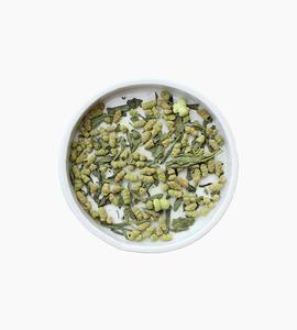 Leaves and flowers green tea   matcha genmaicha