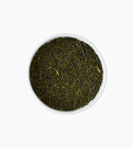 Leaves and flowers green tea   yame sencha