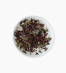 Leaves and flowers herbal tea   rosella mint 2oz