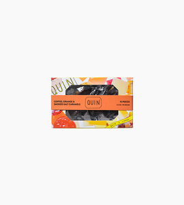 Quin candy coffee  orange   smoked salt caramels