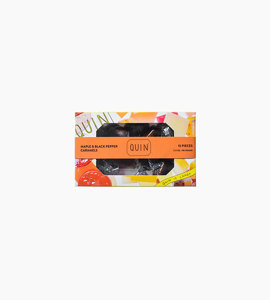 Quin candy maple   black pepper caramels