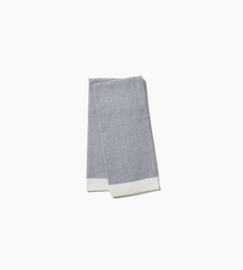 Coyuchi diamond chambray kitchen towel   indigo