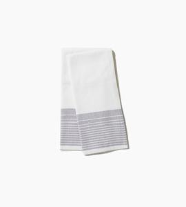 Coyuchi diamond stripe kitchen towel   pewter