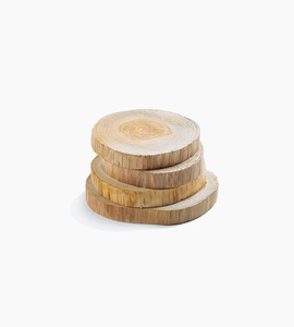 Poketo teakwood coasters set of 4