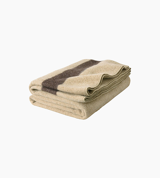 Woolrich fort sumter throw   tan