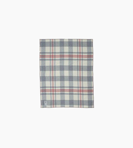 Woolrich soft wool plaid throw   grey