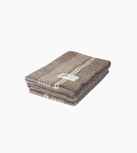 Woolrich suffolk stripe throw   natural brown