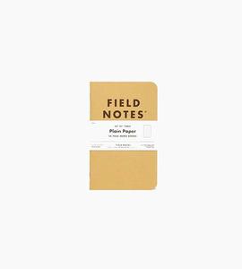 Field notes original kraft plain 3 pack   kraft