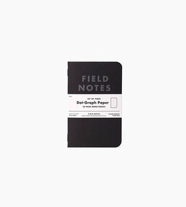 Field notes pitch black memo books 3 pack   black