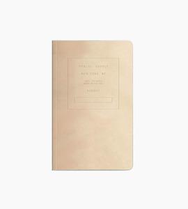 Public supply notebook   single 5x8 velvet   putty