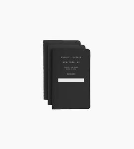 Public supply notebook set   3 pack   black 01