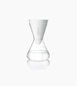 Soma 6 cup glass carafe   white