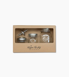 W p design the mason tap kit   glass stainless steel